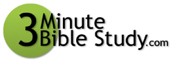 3 minute Bible Study logo